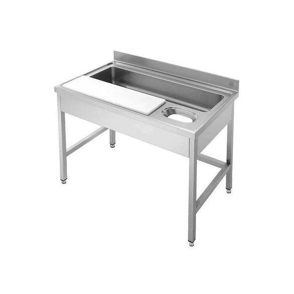 IPA14070ZM1+LÁBAK Zöldség előkészítő - zöldségmosó asztal 1400x700mm, egy medencés