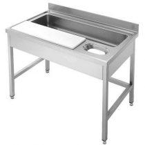 IPA18070ZM2+LÁBAK Zöldség előkészítő - zöldségmosó asztal, 1800x700mm, két medencés