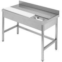 IPA14070HM+LÁBAK Hús előkészítő - húsmosó asztal perforált csepegtetővel, 1400x700mm