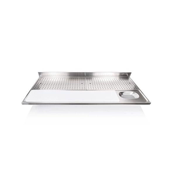 IPA18070HM+LÁBAK Hús előkészítő - húsmosó asztal perforált csepegtetővel, 1800x700mm