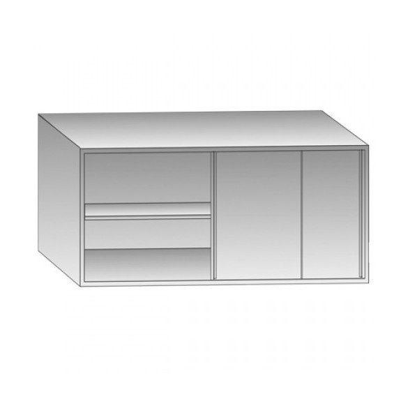 Rozsdamentes fali szekrény tolóajtóval, belső polccal, 120x40x60cm – EMPERO EMP.DDS.4120