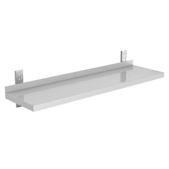 Rozsdamentes falipolc, sima lappal, állítható konzollal, lapraszerelt, 80x30cm – EMPERO EMP.ET1.3080