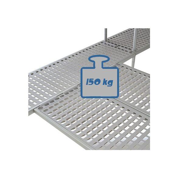 BRE16_134 Négyszintes Aluplast állvány (állványmodul), 1300*400*1600mm