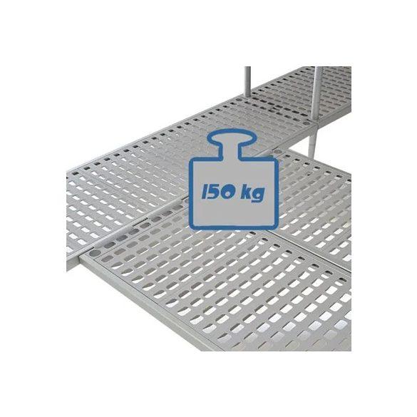 BRE18_105 Négyszintes Aluplast állvány (állványmodul), 1000*500*1800mm