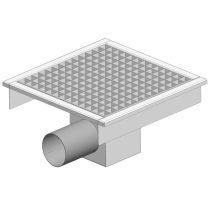 GASZTROMETÁL PLO 460 Rozsdamentes padlóösszefolyó oldalsó vízelfolyással, 460x460mm