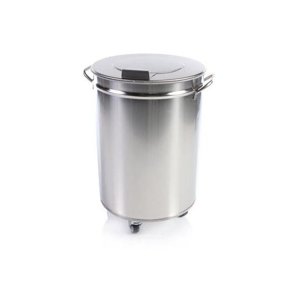 IPA01 Fedeles hulladék- és moslékgyűjtő rozsdamentes, 50 literes
