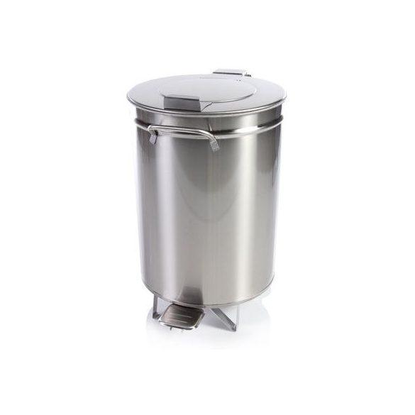 IPA04 Fedeles lábpedálos hulladék- és moslékgyűjtő rozsdamentes, 50 literes