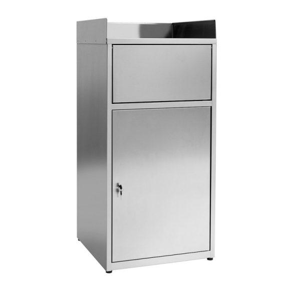 Gyorséttermi hulladékgyűjtő, 80 literes, rozsdamentes acél kivitel – METALCARRELLI2591