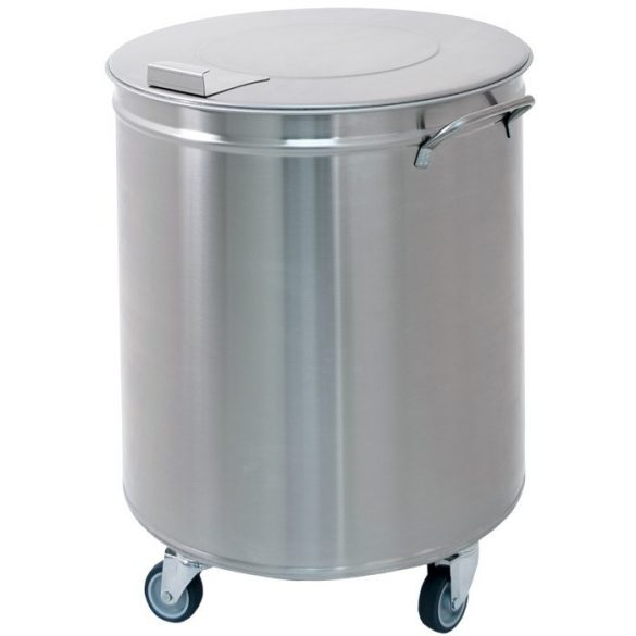 Fedeles nagykonyhai hulladékgyűjtő, rozsdamentes, 50 literes – METALCARRELLI 2150PM