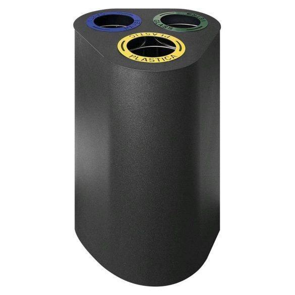 Szelektív hulladékgyűjtő, 3 rekeszes (3x25L) – METALCARRELLI2570