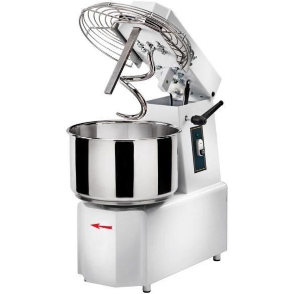 Spirálkaros dagasztógép, 30 literes fix üsttel, felnyitható keverő fejjel, 230V – GAMTS30/230