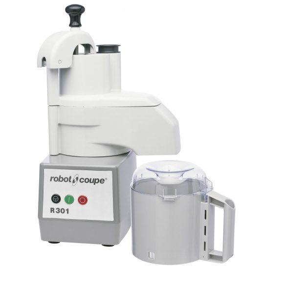ROBOT-COUPE R 301 Kutter + Zöldségszeletelő 3,7 literes polikarbonát tartállyal, 650W