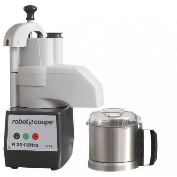 ROBOT-COUPE R 301 Ultra Kutter + Zöldségszeletelő 3,7 literes rozsdamentes tartállyal, 650W