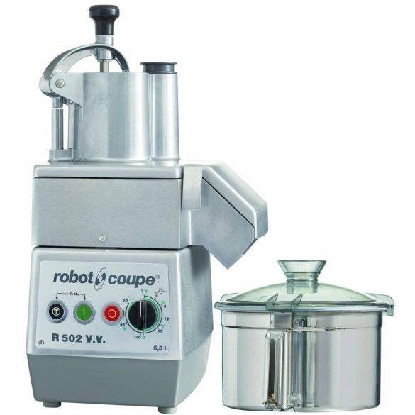 ROBOT-COUPE R 502 VV Kutter + Zöldségszeletelő 5,9 literes tartállyal, állítható sebesség, 230V/1300W