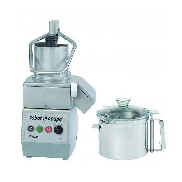 ROBOT-COUPE R 752 Kutter + Zöldségszeletelő 7,5 literes tartállyal, 2 sebességgel, 400V/1800W