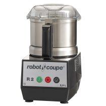 ROBOT-COUPE R 2 Kutter polikarbonát motorblokkal és rozsdamentes acél tartállyal 2,9L, egy sebesség