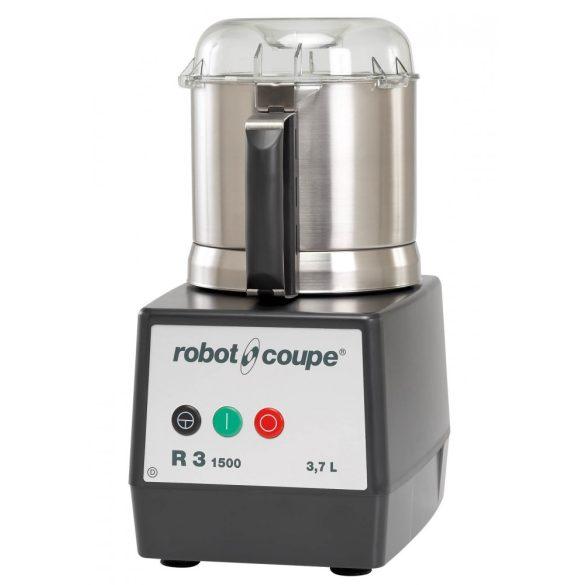 ROBOT-COUPE R 3-1500 Kutter polikarbonát motorblokkal és rozsdamentes acél tartállyal, 3,7 L (1500 ford/perc)