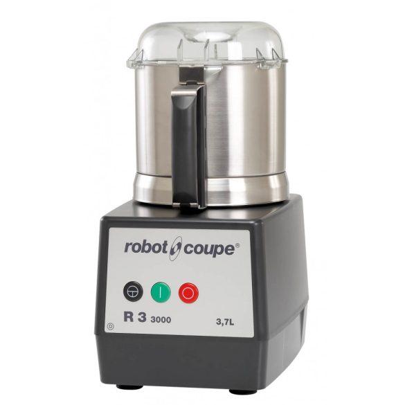 ROBOT-COUPE R 3-3000 Kutter polikarbonát motorblokkal és rozsdamentes acél tartállyal, 3,7 L (3000 ford/perc)