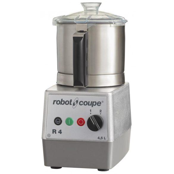 ROBOT-COUPE R 4-2 V Kutter rozsdamentes motorblokkal és tartállyal 4,5L, két sebesség