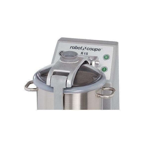 ROBOT-COUPE R 15 Kutter inox motorblokkal és tartállyal, 15L, két sebességgel