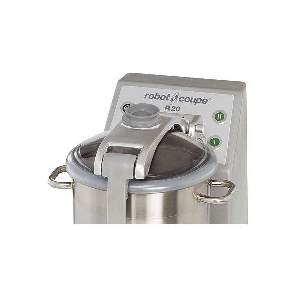 ROBOT-COUPE R 20 Kutter inox motorblokkal és tartállyal, 20L, két sebességgel
