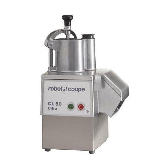 ROBOT-COUPE CL 50 Ultra Zöldségszeletelő gép kb. 150 kg/h teljesítménnyel, rozsdamentes motorburkolattal