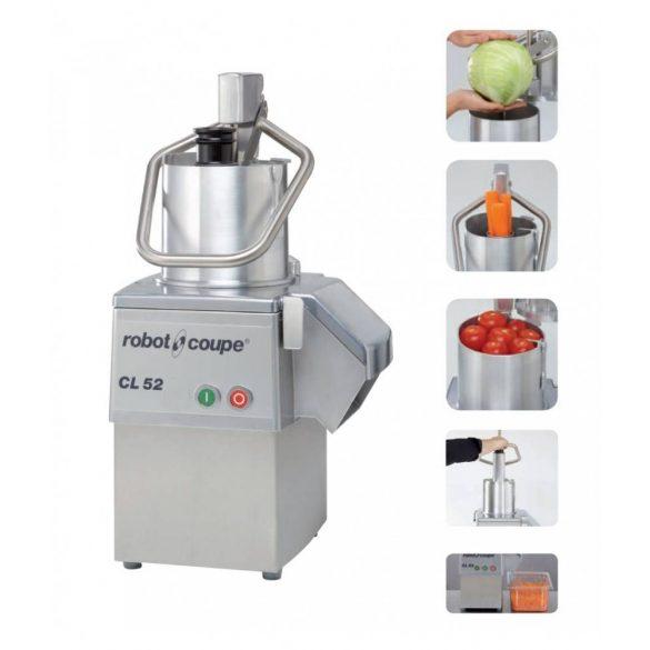 ROBOT-COUPE CL 52 (400 V) Zöldségszeletelő gép kb 250 kg/h telj., nagyméretű betöltővel, 400V