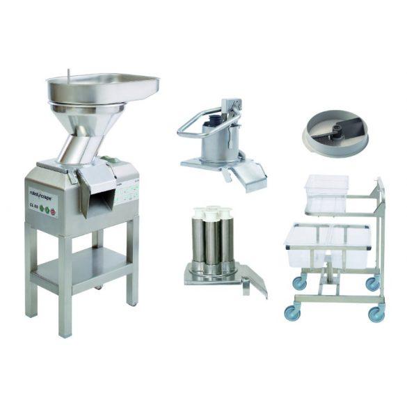 ROBOT-COUPE CL 60 Workstation Zöldségszeletelő munkaállomás, 600kg/h teljesítményű kétsebességes zöldségszeltelő géppel (400V)