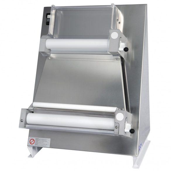 Pizzatészta-nyújtó gép 40 cm-es nyújtóhengerekkel, szögletes tésztához – GAMR40PE