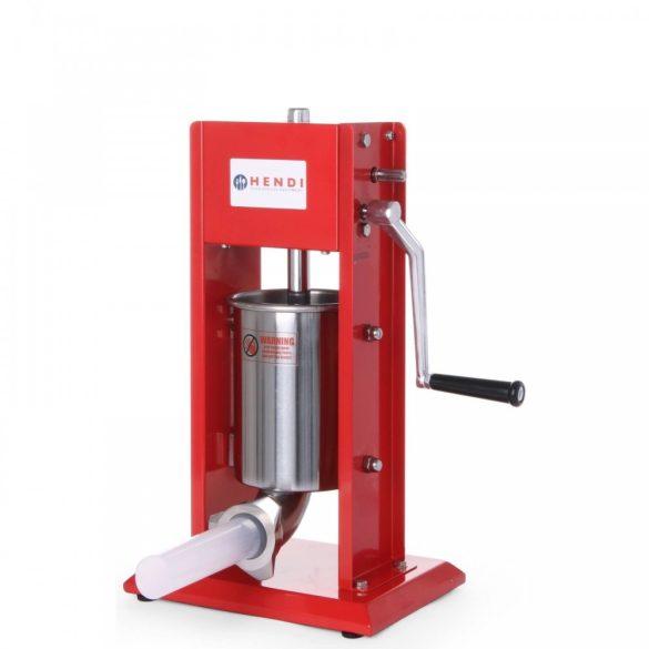 HENDI 282137 Hurkatöltő - kolbásztöltő, rozsdamentes és festett acélból, 3 literes