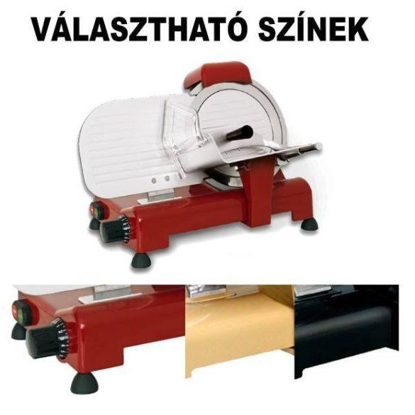 """Felvágottszeletelő gép """"LUSSO"""", 250mm pengeátmérővel – RGVLUSSO 25GS CE"""