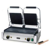 HENDI 263808 Kontakt grill dupla sütőfelülettel, felül bordázott, alul sima kialakítással