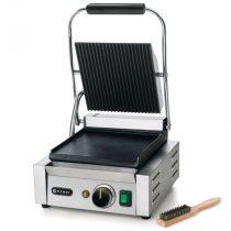 HENDI 263600 Kontakt grill szimpla sütőfelülettel, felül bordázott, alul sima kialakítással