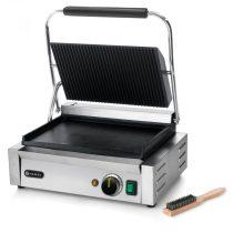 """HENDI 263662 Kontakt grill felül bordázott, alul sima sütőfelülettel """"Pannini"""" változat"""