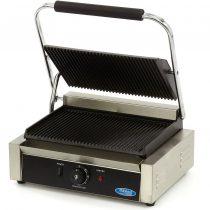 Maxima MCG-PANINI Kontakt panini grill, alul-felül bordázott öntöttvas sütőlapokkal