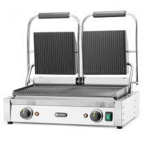 HENDI 263709 Kontakt grill dupla sütőfelülettel, alul-felül bordázott kialakítással
