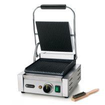 HENDI 263501 Kontakt grill szimpla sütőfelülettel, alul-felül bordázott kialakítással