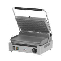 REDFOX PM 2015 L Kontakt grill sütő, elektromos, alul sima felül bordázott 365x240mm méretű sütőfelülettel