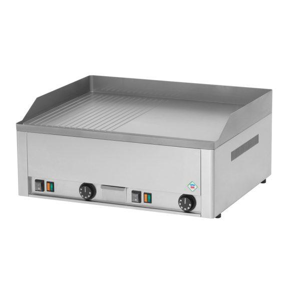 REDFOX FTHR 60 E Sütő lap 1/2 sima, 1/2 bordázott lappal 65x48cm, elektromos, asztali kivitel.