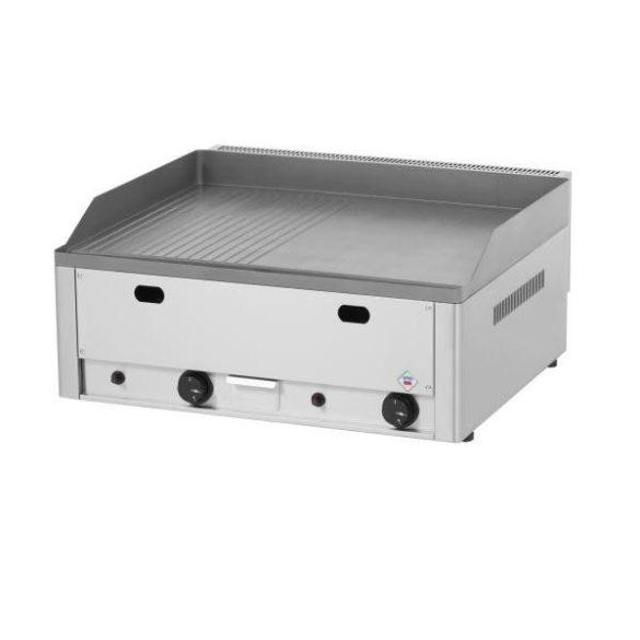 REDFOX FTHR 60 G Szeletsütő lap 1/2 sima, 1/2 bordázott sütőfelülettel 65x48cm, gázüzemű, asztali.