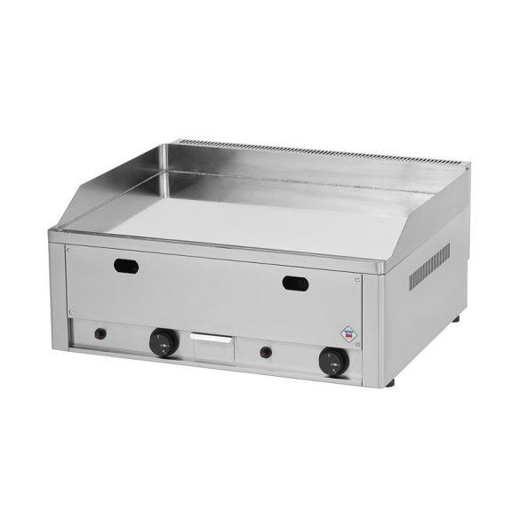 REDFOX FTHC 60 G Szeletsütő lap sima króm sütőfelülettel 65x48cm, gázüzemű, asztali.