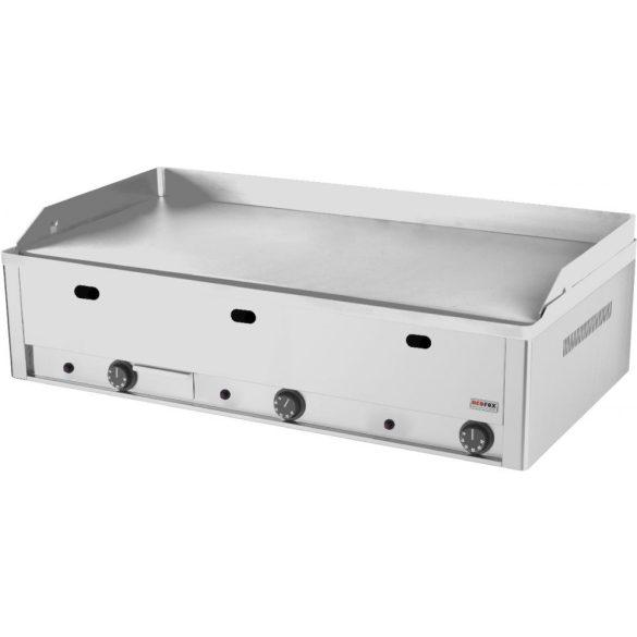 REDFOX FTHC 90 G Szeletsütő lap sima nagyméretű króm sütőfelülettel 97x48cm, gázüzemű, asztali.