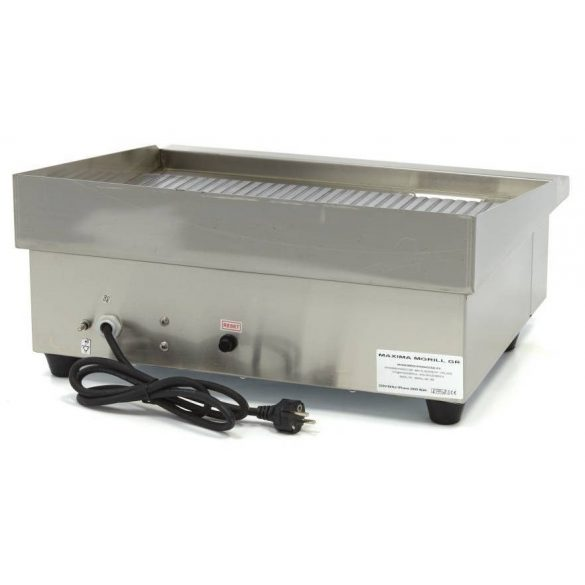 Maxima 09300070 Szeletsütő lap, elektromos, 55x35cm-es bordázott rozsdamentes acél sütőfelülettel