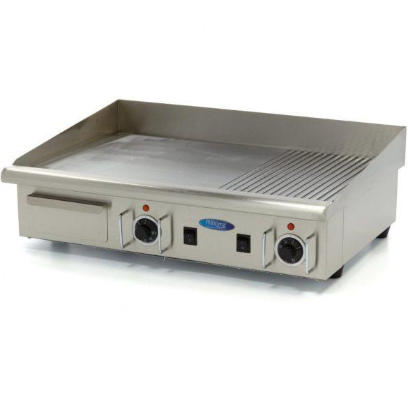 Maxima 09300080 Szeletsütő lap, elektromos, 73x40cm-es sima+bordázott rozsdamentes acél sütőfelülettel
