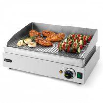 Szeletsütő lap, elektromos, 518x328mm-es bordázott krómozott sütőfelülettel – HENDI203170
