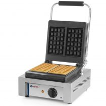 """HENDI 212103 Ipari gofrisütő (waffelsütő), """"LIÉGE"""" sütőformával"""