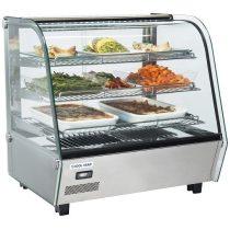 Hajlított üvegű melegentartó vitrin, pultra helyezhető, 120 literes – COOL HEAD RH120