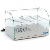 Maxima 09400775 Melegentartó vitrin, kétszintes, hajlított elülső üveggel, 45L