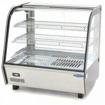 Maxima 09400846 Hajlított üvegű melegentartó vitrin, pultra helyezhető, 120 literes