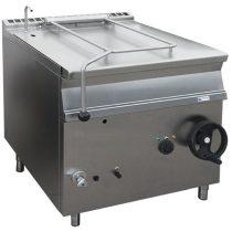 Billenő serpenyő, gázüzemű, kézi billentés, 50 literes, szénacél fenékkel – GASZTROMETÁL GBS55.78